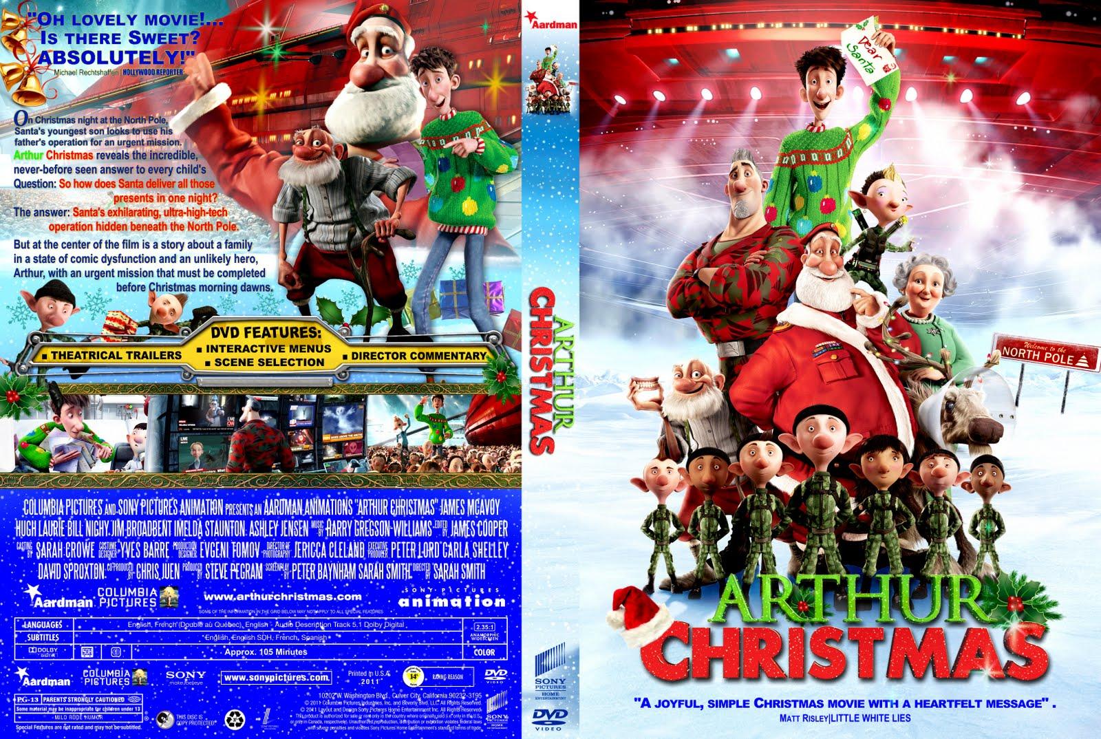 arthur christmas dvd cover - Arthur Christmas Dvd