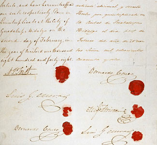 the treaty of guadalupe hidalgo essay The mexican-american war and the treaty of guadalupe hidalgo so far from  god,  this essay will answer these questions in a nutshell throughout the 19th .