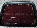 Prajitura cu ness si nuca preparare reteta - intindem glazura de ciocolata uniform