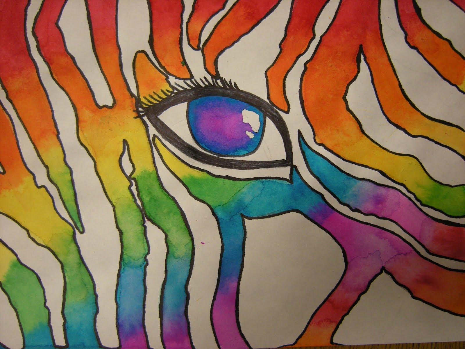 Color wheel art projects for kids - Color Wheel Zebra Eye