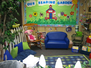 reading corner in classroom