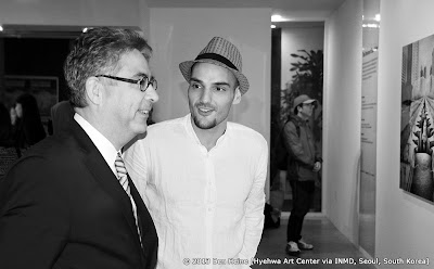 Artist Ben Heine with Ambassador François Bontemps at Art Exhibition in South Korea - 2013
