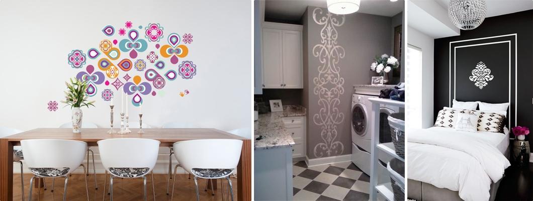 Pintura de parede com stencil debora montes blog - Pintura de paredes ...