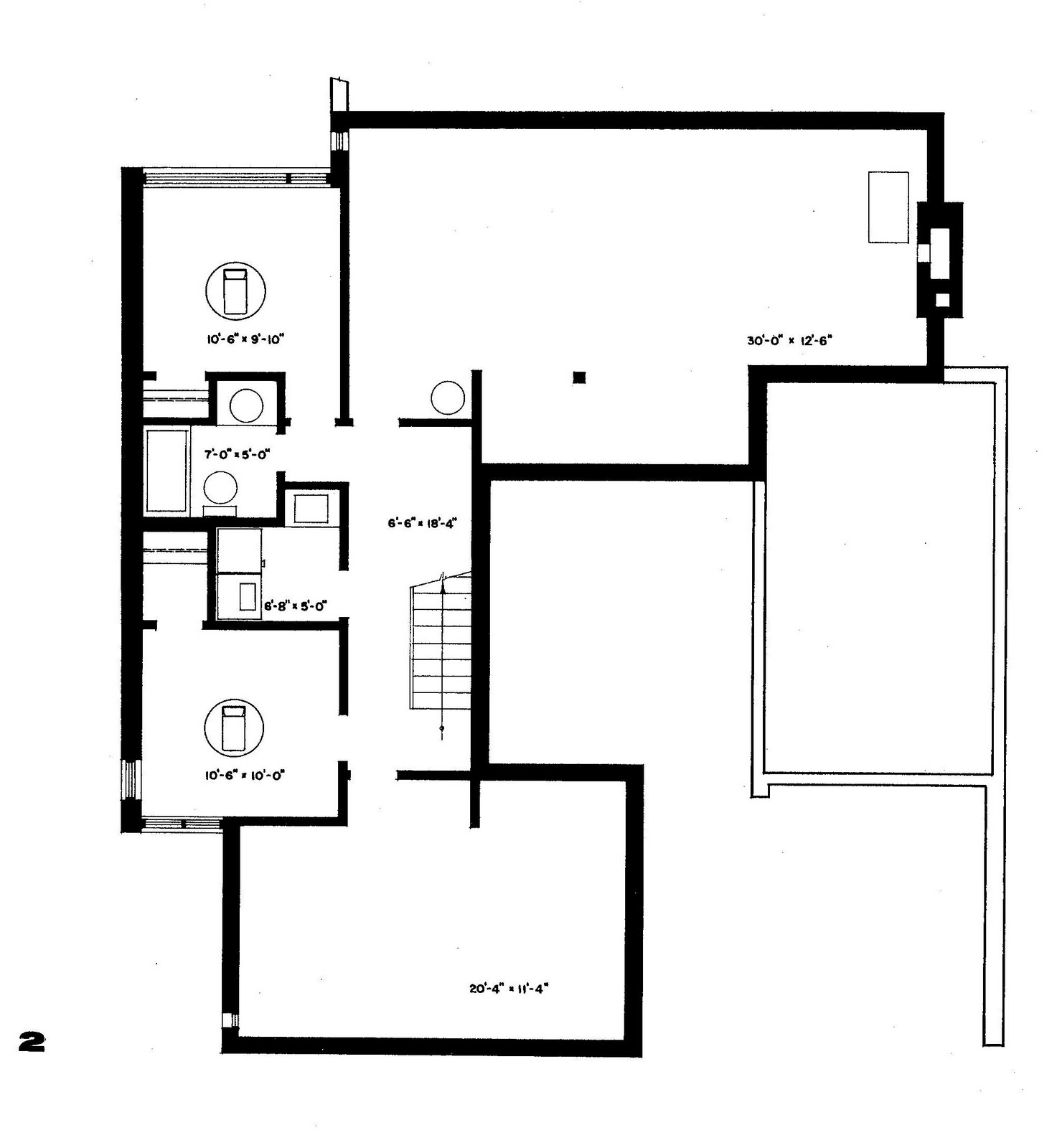 Mid century modern and 1970s era ottawa cmhc house for 1950s council house floor plan