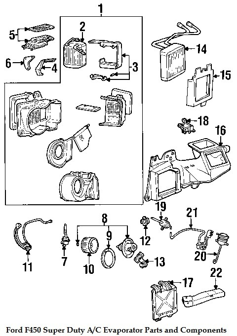 Component    Diagrams        Ford       F450    2006    Super       Duty    Evaporator Parts