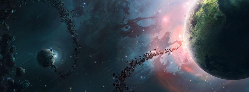 Nebula universe facebook cover