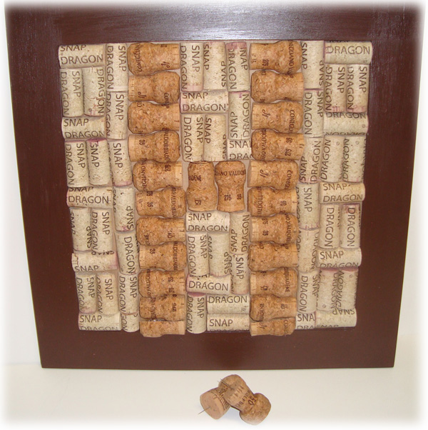Simply me wine cork bulletin board for How to make a bulletin board without cork