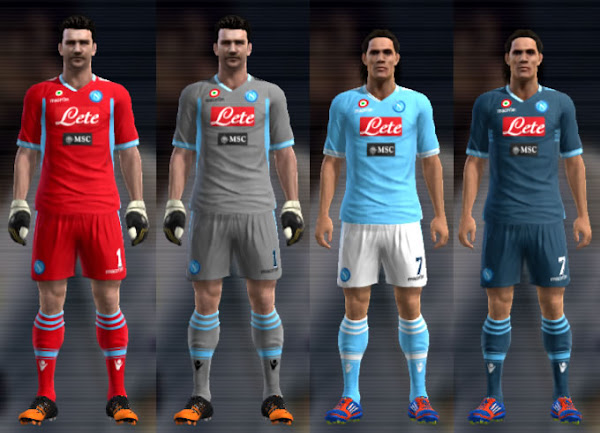 PES 2013 Napoli 2012/13 Kits by Tevin12