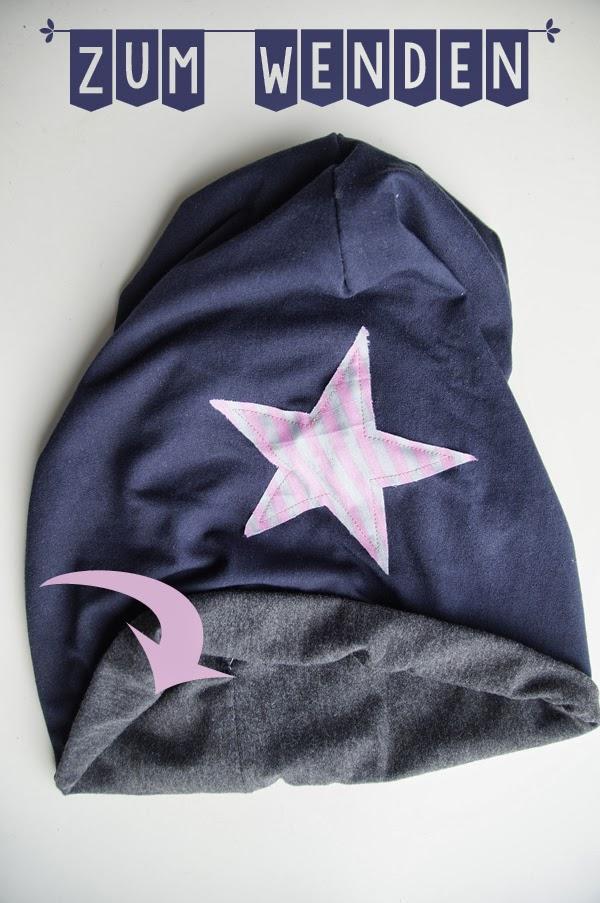 Beanie Mütze mit Stern nähen