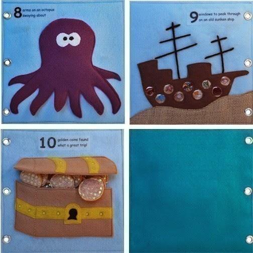 шитье развивающих книг для детей
