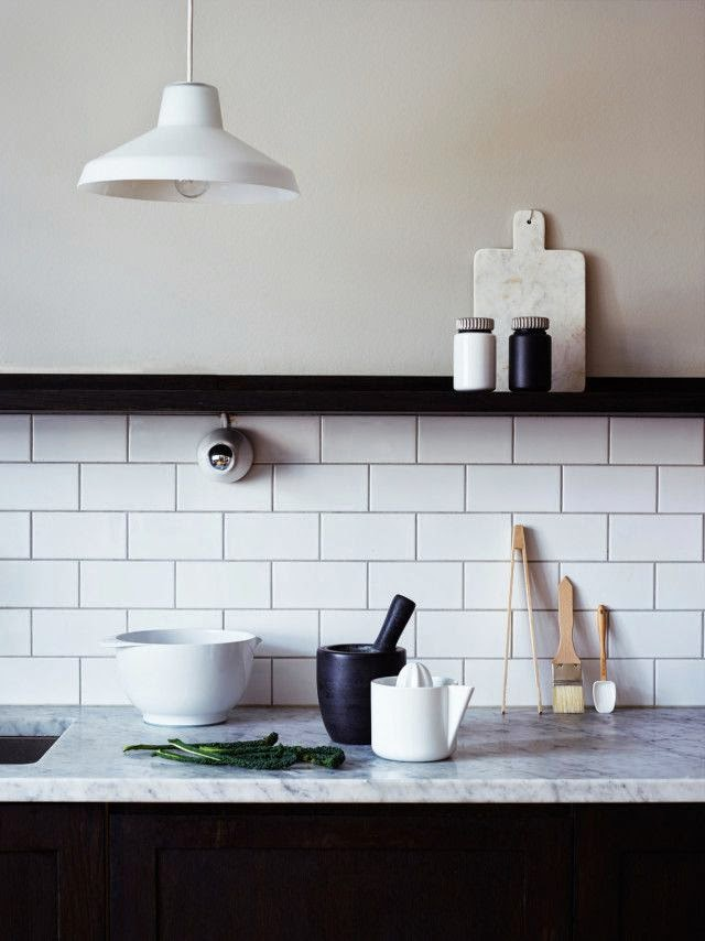 Kitchen Tiles Metro white metro tiles in the kitchen | norse white design blog
