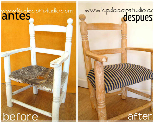 antes y despues restauracion, before and after restoration, silla vintage restaurada, restauradores expertos