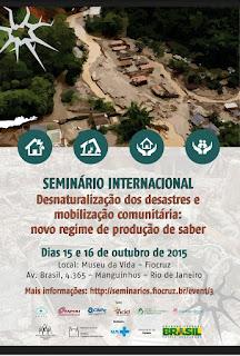 SEMINÁRIO INTERNACIONAL sobre os DESASTRES - REGIÃO SERRANA
