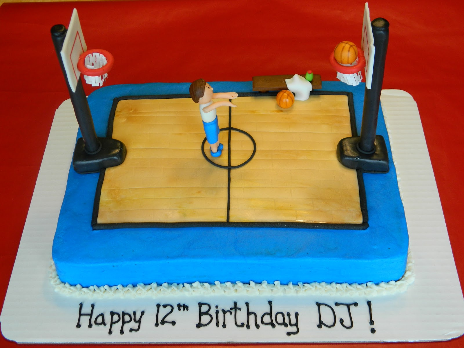 Basketball Court Cake Images : Sweet Custom Treats: A Basketball Court Birthday Cake