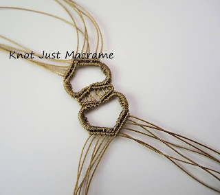 First attempt at knotting a heart shape in micro macrame