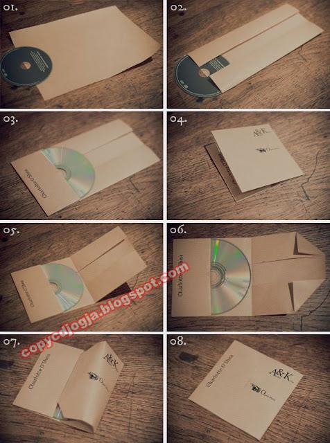 Cara membuat sendiri Casing CD kertas / amplop