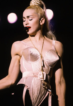 what video did madonna wear her cone bra in? Yahoo Answers