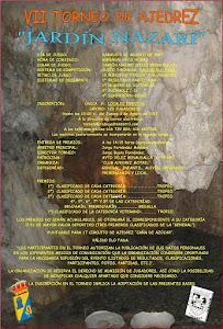 "VII TORNEO DE AJEDREZ ""JARDÍN NAZARÍ"""