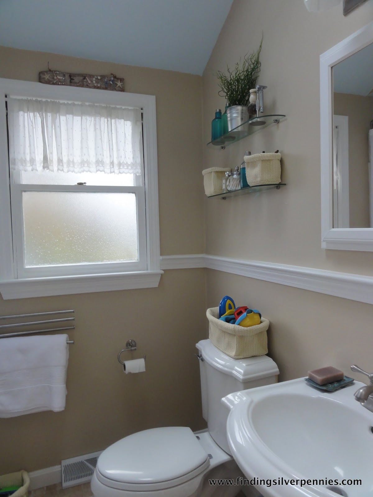 Bathroom Makeover Contest it's the little things (bathroom makeover) - finding silver pennies