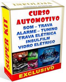 Curso Automotivo de Instalação Alarmes + Trava + Vidro + Som + Insulfilm. Material Completo