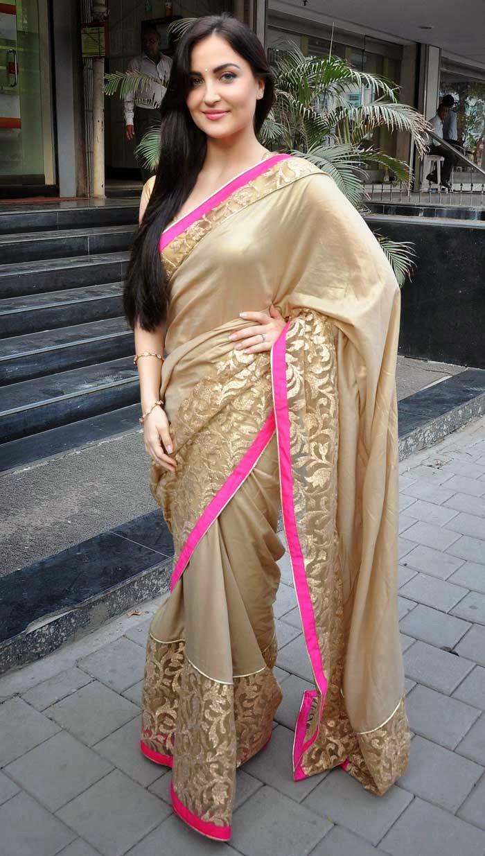 Eli Avaram in Mandira Bedi Saree