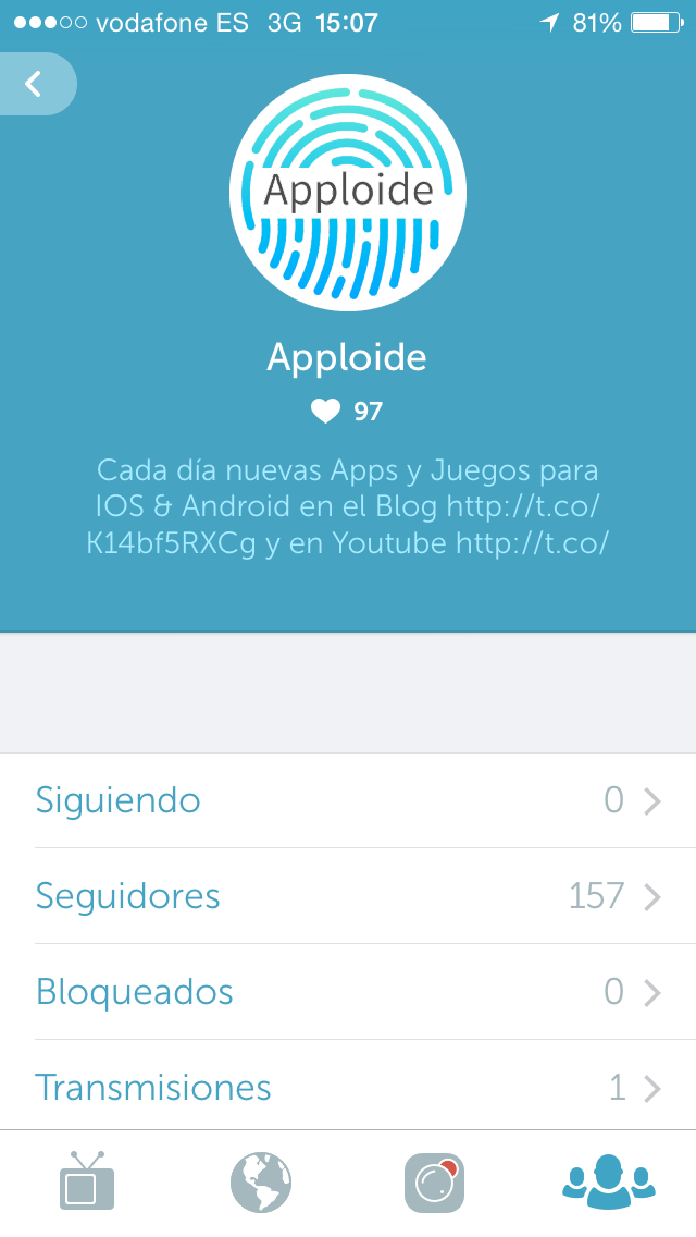 Apploide en Periscope