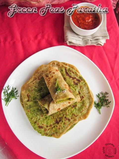 peas-chapathi
