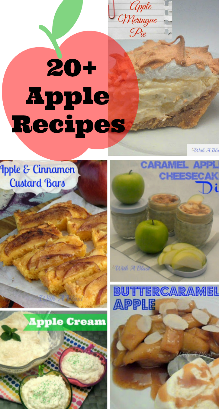 20+ Apple Recipes ~ Round-Up of all-things Apple - from Milkshakes to Desserts to Mains and all the in betweens ! #AppleRecipes #AppleDesserts #AppleRoundUp