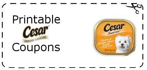 Printable Cesar Dog Food Coupons Canada