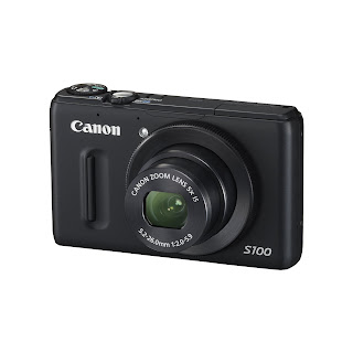 Canon Powershot S100 Camera Side View