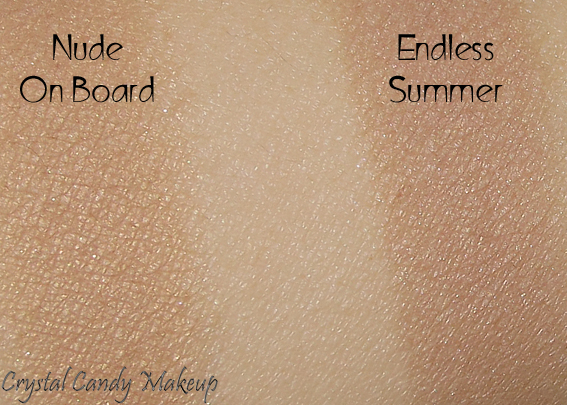 Bronzer longue tenue 16 Hour Endless Summer de Too Faced - Review - Swatch - Chocolate Soleil - Nude on Board MAC Temperature Rising
