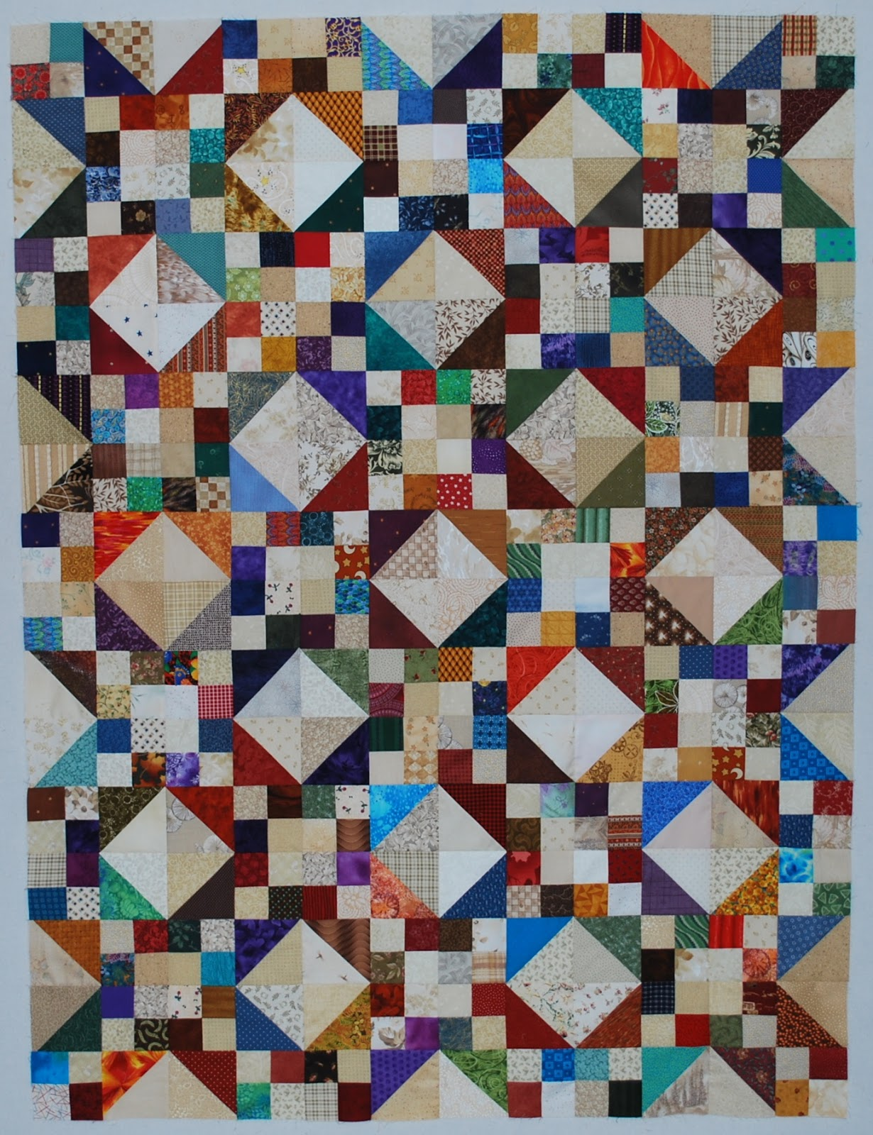 Free Quilt Pattern For Jacob S Ladder : Double Nickel Quilts: I See Stars quilt