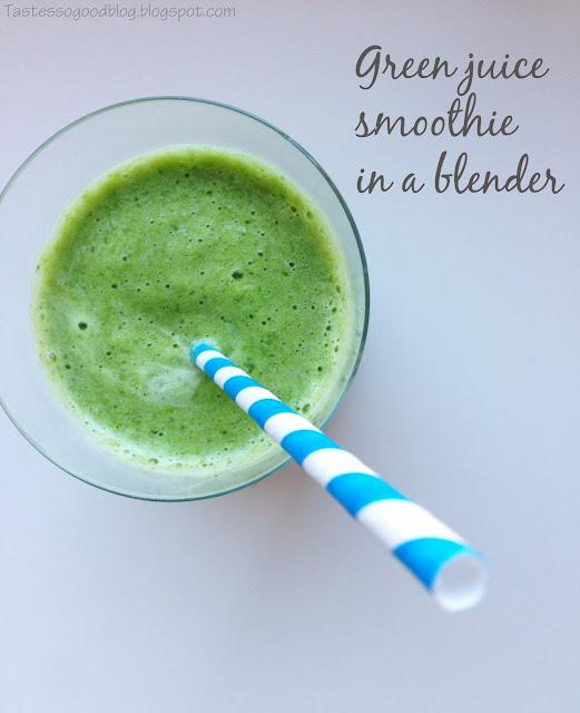 Green Juice Smoothie in a Blender Recipe    Tastes so Good Blog