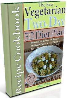 Easy Vegetarian Two-Day 5:2 Diet Plan Recipe Cookbook