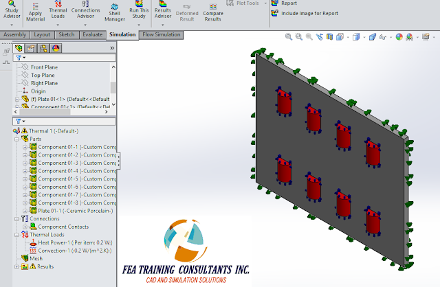 application of loads solidworks simulation
