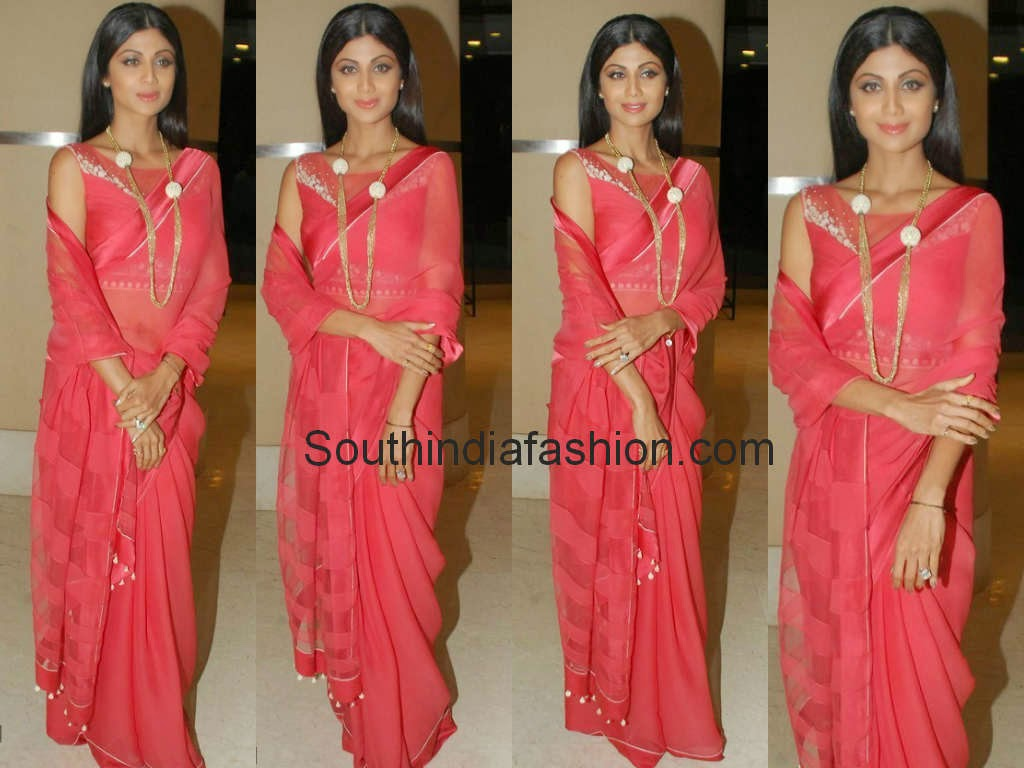 shilpa shetty tarun tahiliani saree