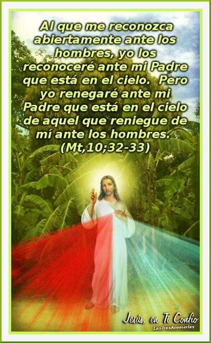 foto divina misericordia con mensaje de la biblia