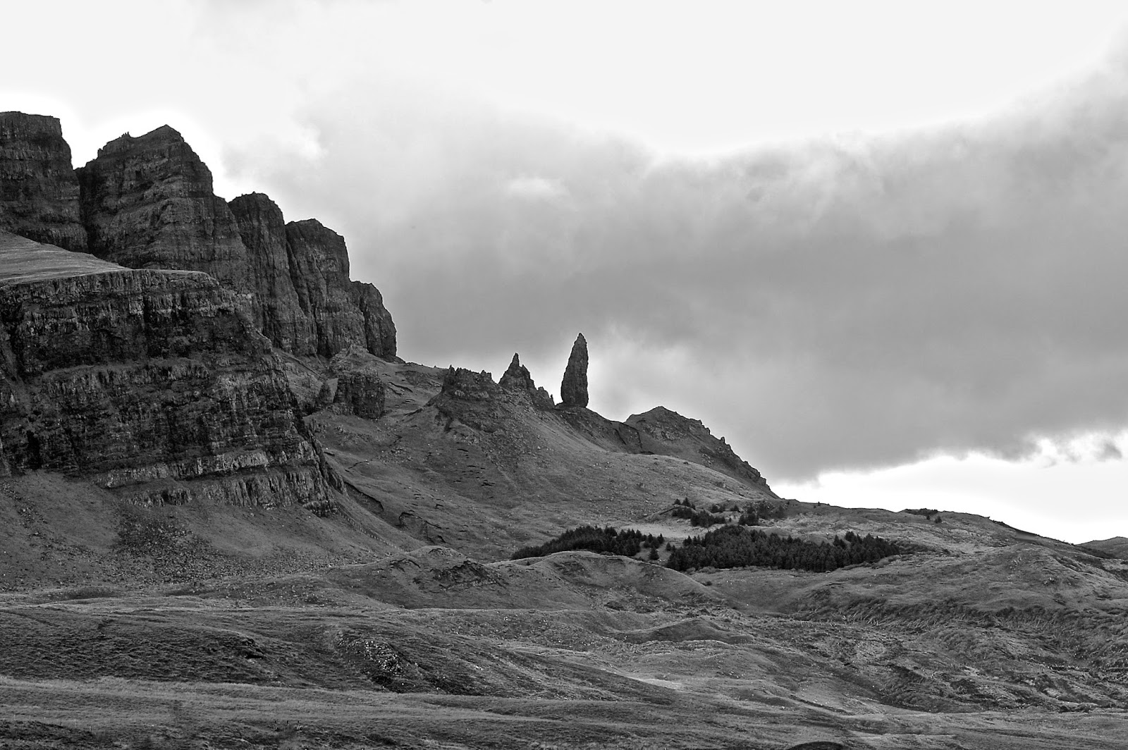 Old Man of Storr viewed from the south, Isle of Skye