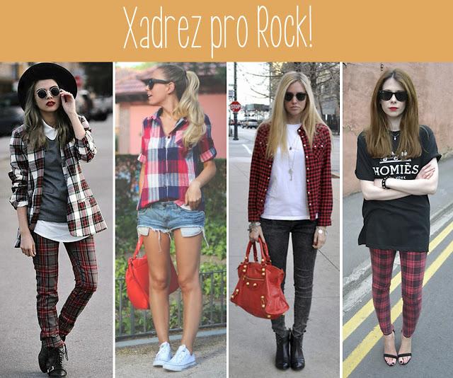 moda, inspiração, estampa, grunge, rock'n'rool, looks, produções
