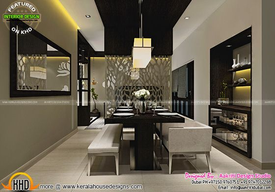 September 2015 kerala home design and floor plans for Dining room designs kerala