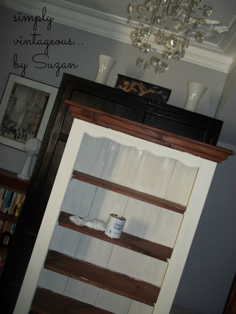 bookcase,before,after,annie sloan, old white,coco