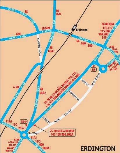 Great British Bus Routescom 110 Birmingham Tamworth
