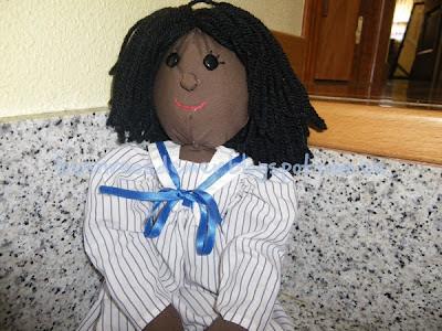 Detalle de muñeca de trapo