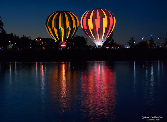 Balloons over bend 2013 night glow bend oregon central oregon Jaime Weatherford