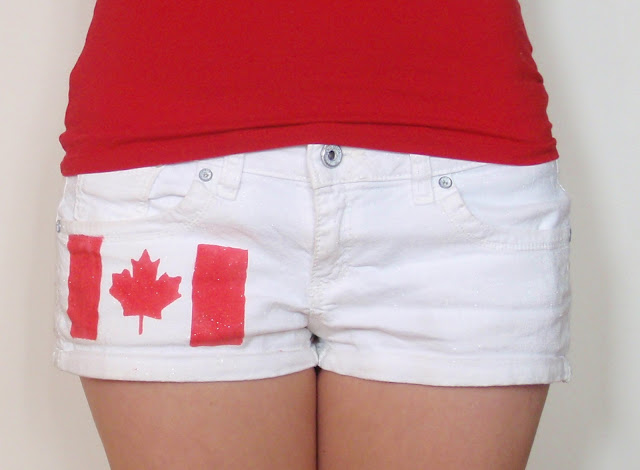 diy, canada day, canada day shorts, canada day crafts, what to on canada day, canada day attire, DIY canada day, how to create canada day shorts, Canada day attire