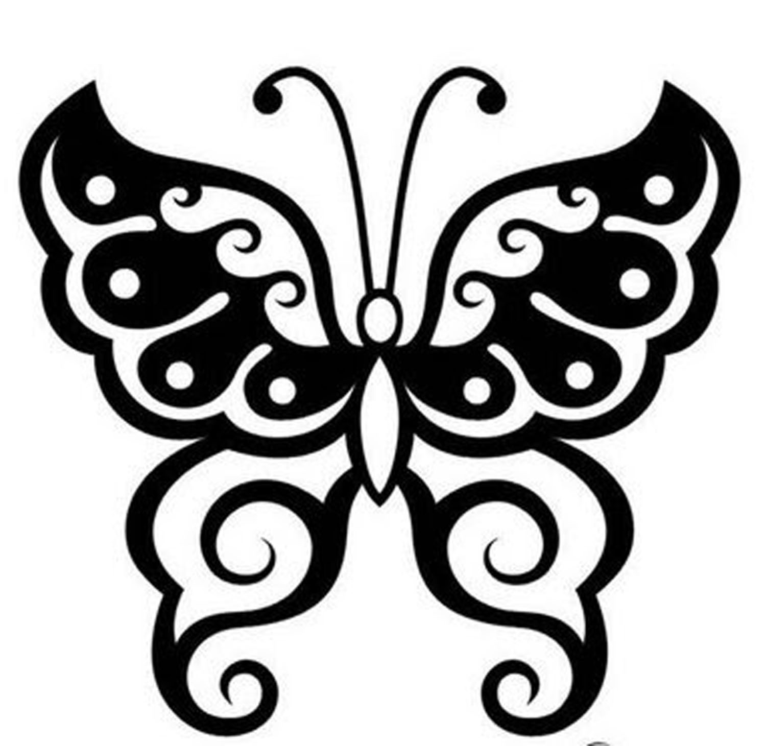 variation of tatto tribal butterfly