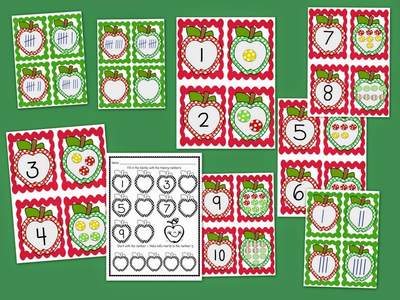 http://www.teacherspayteachers.com/Product/Apple-Counting-and-Number-Match-750753