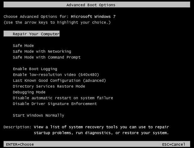 Komputer / laptop tidak bisa masuk windows a