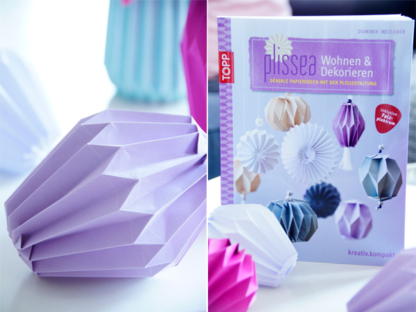 DIY Plissees Deko falten, Bastelbuch TOPP Verlag, Origami