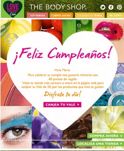 regalo cumpleaños the body shop